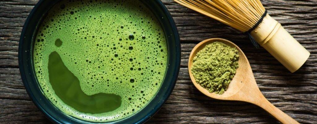 green matcha tea prepared