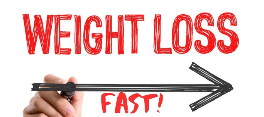lose weight fast writing with arrow