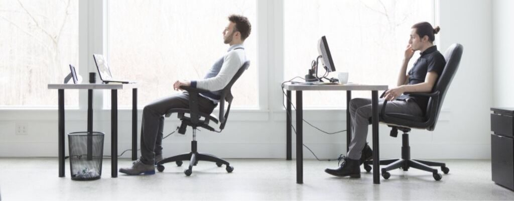 2 guys sitting in office