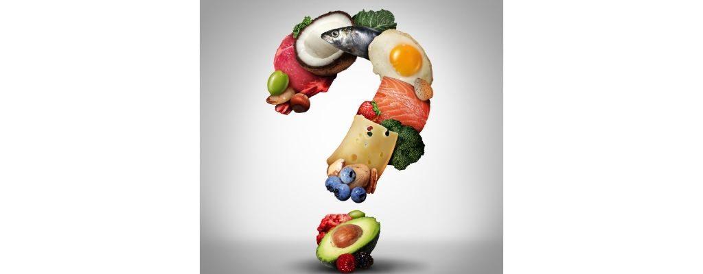 question mark using keto food