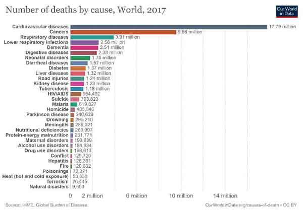 cause of death graph in 2017
