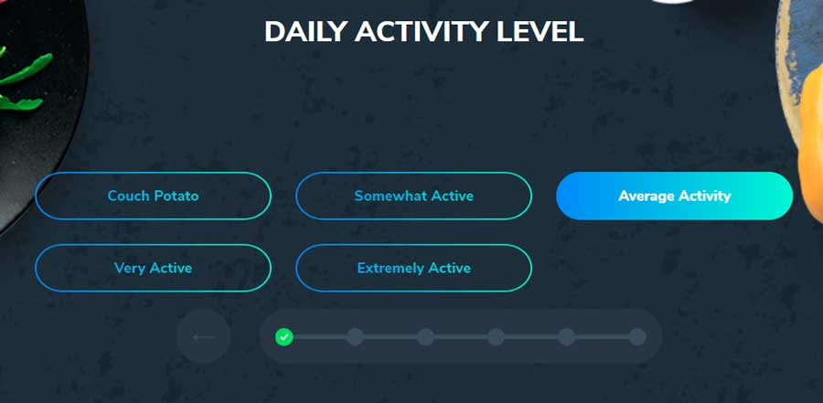custom keto diet daily activity level