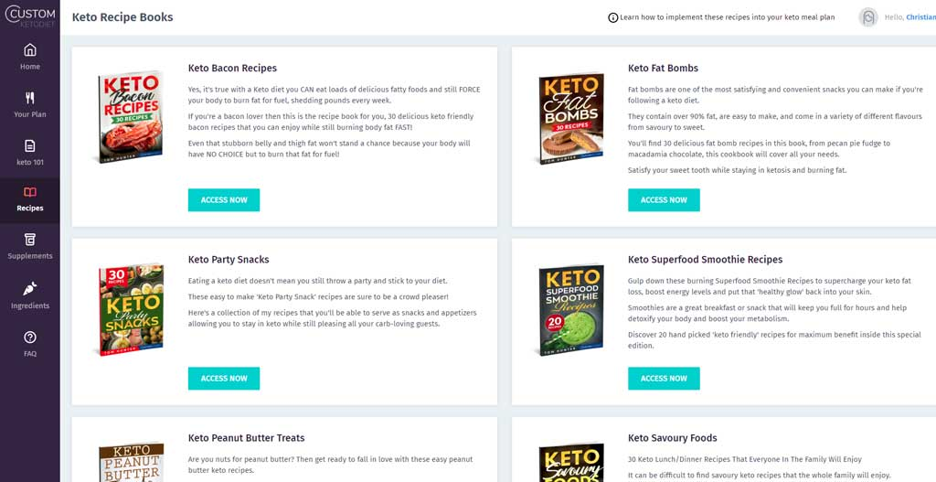 keto recipe books bonus