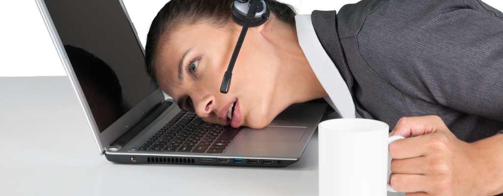 lady sleeping on keyboard