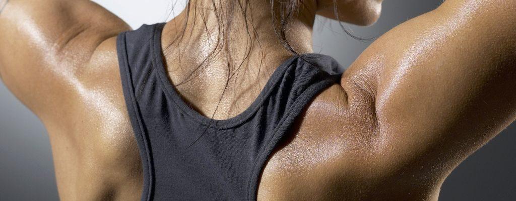 girl's shoulder