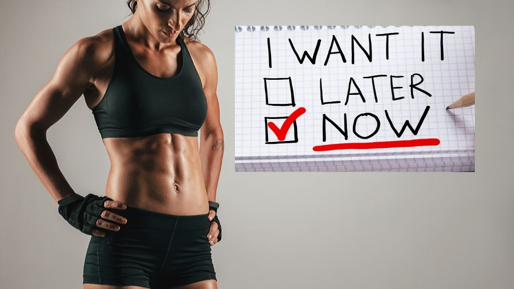 picture of woman who wants abs now