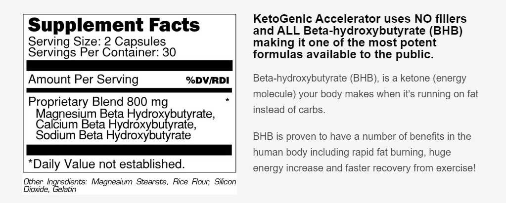 ketogenic accelerator ingredients