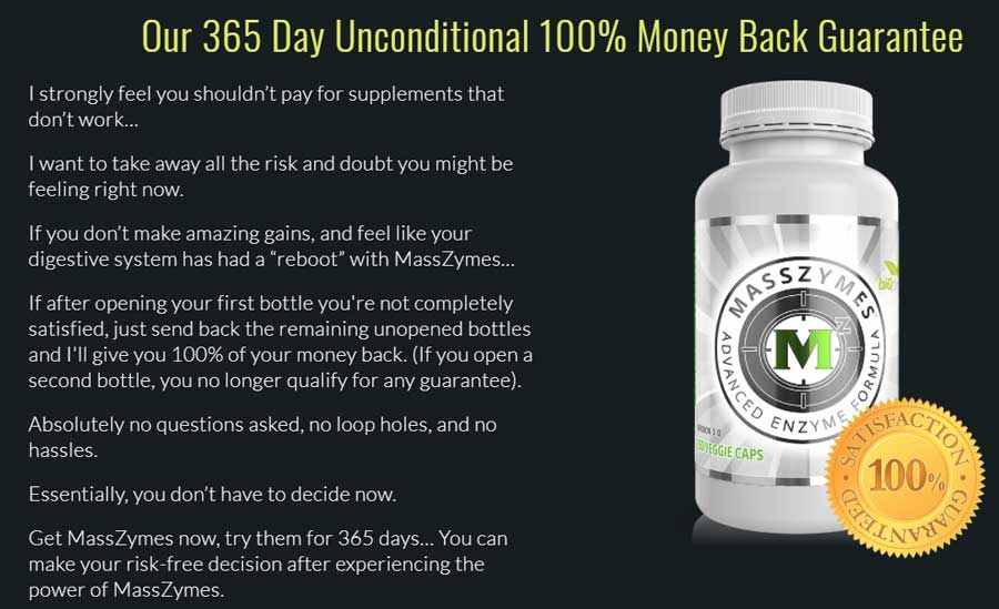 masszymes money back guarantee